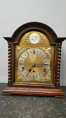 Late 19th Century Solid Wooden Westminster Chiming Table Clock