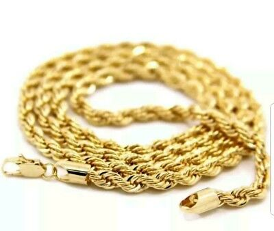 Mens / Womens Stainless Steel 24in Rope Chain Necklace 4 MM USA SELLER