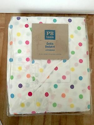 Pottery Barn Teen Multi Dottie Colorful Polka Dot XL Twin / Daybed Bedskirt NEW