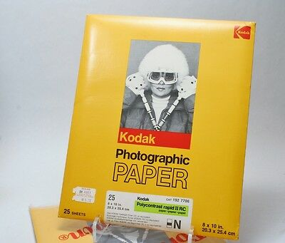 50 Sheets Unopened Kodak Polycontrast Rapid II RC 8x10 Photographic Paper