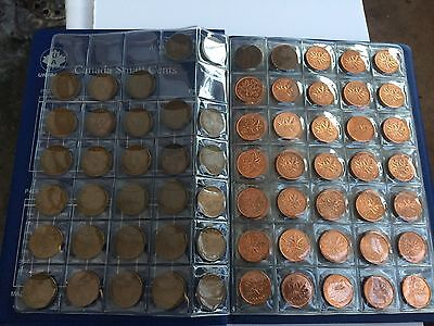 1920-2012 Canada One Cent Collection 1956-2012 Bu