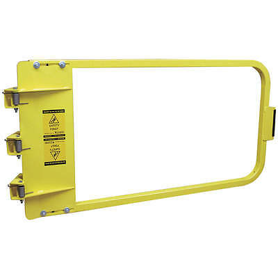 PS DOORS LSG-40-PCY Yellow Safety Gate, 42-3/4 to 46-1/2 In Steel LSG-44-PCY