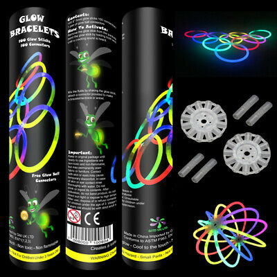 "1000 8"" Glow Bracelets Glow Sticks Anklets Necklaces Glow Party Festivals"