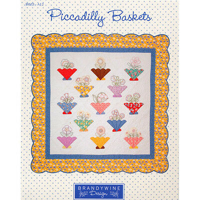 PICCADILLY BASKETS APPLIQUE QUILT QUILTING PATTERN, From Brandywine Design NEW