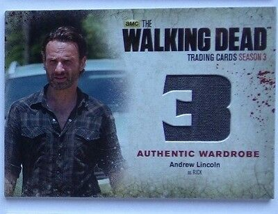 The Walking Dead season 3 part 2 wardrobe card