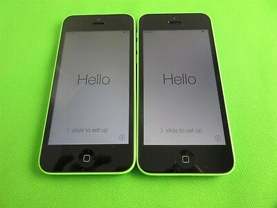Lot 2 Near Mint White Apple iPhone 5C 8GB Verizon Page Plus & Straight Talk