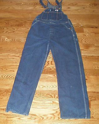DICKIES MENS DENIM BIB OVERALLS SIZE 36x34 CARPENTER WORK PANTS EUC