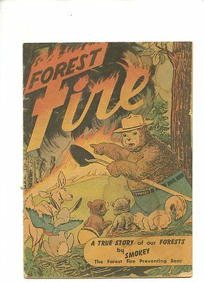 Forest Fire (1949) 1st Appearance Smokey The Bear 1st Print GD+