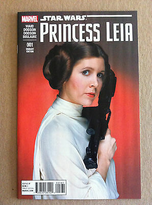 Star Wars Princess Leia #1 Carrie Fisher 1:15 Movie Photo Variant Cover Nm 2015