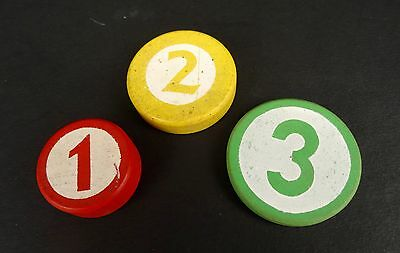 GREAT Vintage 1960 Fisher Price #972 Cash Register COINS ONLY Wood Wooden 1 2 3