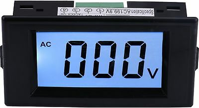 Yeeco AC 0-600V LCD Display Digital Voltmeter Volt Panel Meter Voltage Monito...