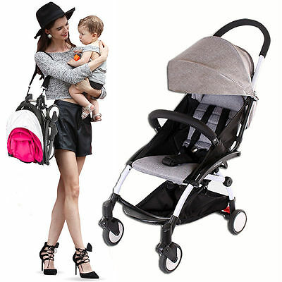 Newborn Baby Folding Travel Stroller Pram Kids Pushchair Jogger Carry On Plane