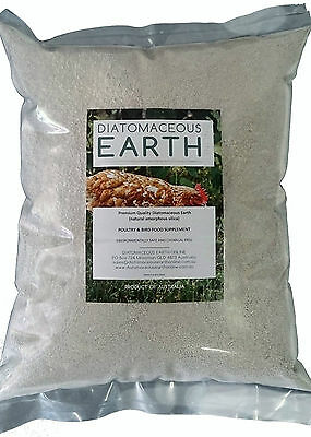 Diatomaceous Earth Poultry and Bird Feed Supplement Food Grade - 4.5kg