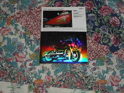 Collector Motorcycle card hollogram card : 1941 Indian  Chief 4 cylinder