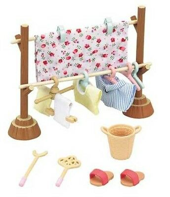 Sylvanian Families Furniture Cute Doll Accessory Clothesline Set  From Japan