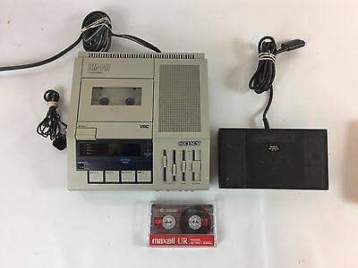 Dictaphone STD 4-Channel Transcriber BM-147 Sony Includes Foot Pedal FS-75 B3
