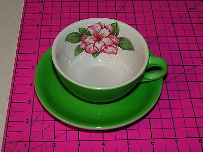 Chesapeake & Ohio Railroad China Cup & Saucer in the Greenbrier Pattern