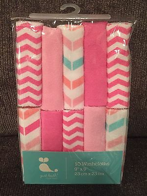 Lot of 2 Pack of Girls Washcloths - Just Bath, 10 Pack /Safety 1st, 4 Pack
