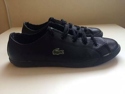 Great Authentic Men's Lacoste black leather shoes | SIZE 6 !!!! GONE FAST :)