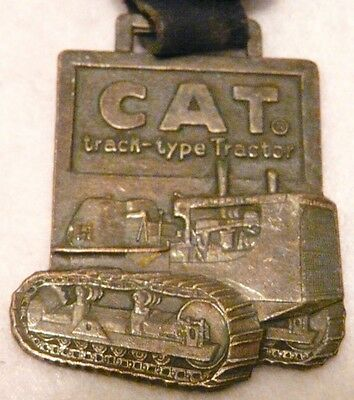 CAT (c) TRACK-TYPE TRACTOR STRAP POCKET WATCH FOB WITH TONING