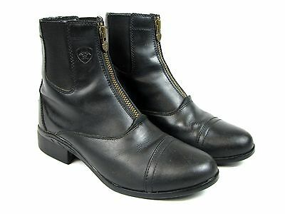 Womens Black Leather Ariat Scout Zip Paddock Herritage Riding Boots 8.5 10012741