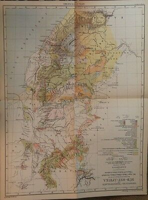 Geographical Map of South East Africa -- 1884 -- Justus Perths' - 1 Map