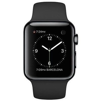 Apple Watch Space Black Stainless Steel Case (with Black Sport Band)