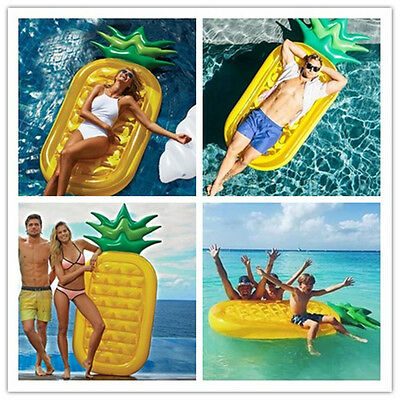 Giant Pineapple Inflatable Water Fun Toy Swimming Pool Float Air Tube Raft Bed