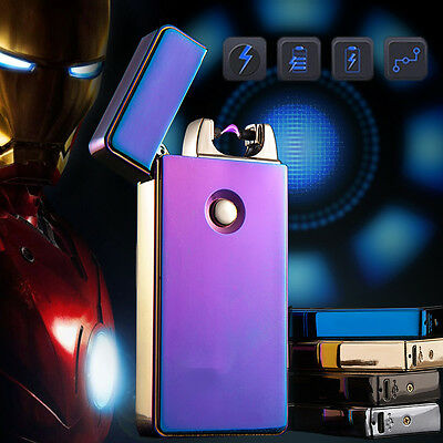 Rechargeable Cigarette Plasma Electric Windproof Lighter SingleArc USB Flameless