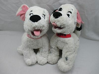 """Disney Store EXCLUSIVE 101 Dalmatians Set of TWO 12"""" Plush PENNY & PATCH Dogs"""