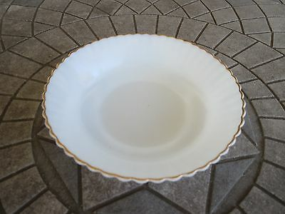 Monax Depression Glass Petalware with Gold Trim Cereal Bowl 5 3/4""