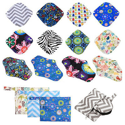 4 Sizes Colorful Reusable Cloth Nappy Mama Bag & Menstrual Pads Pouch Tool JZZ
