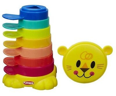 Playskool Stack N Cups Shapes Colours Stacking Portable Baby Toy 9m+