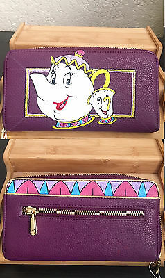 Hand Painted Mrs. Potts and Chip Wallet