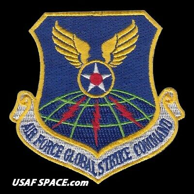 AUTHENTIC AIR FORCE -GLOBAL STRIKE COMMAND- USAF PATCH on HOOK & LOOP MINT ****