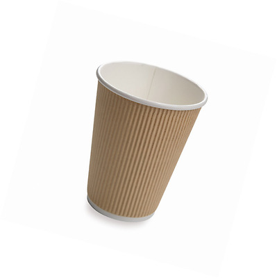 Restaurantware 500-Count Disposable Ripple Wall Coffee and Tea Cup, 8-Ounce, Kra