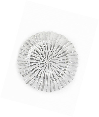 ChargeIt by Jay Halley Round Charger Plate, 13-Inch, Silver