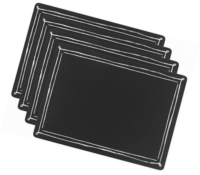 Now Designs Cork-Backed Blackboard Placemats (Set of 4)