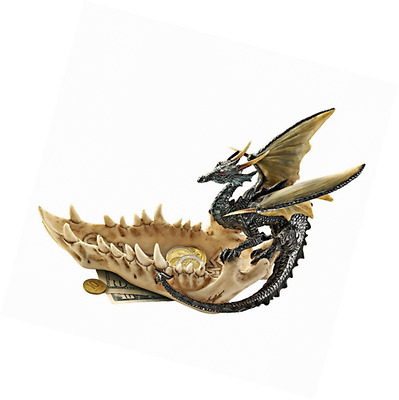 Design Toscano Jaw of The Dragon Offering Dish, Full Color