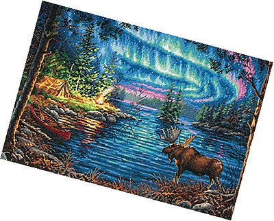 Dimensions Crafts 70-35312 Northern Night Counted Cross Stitch Kit