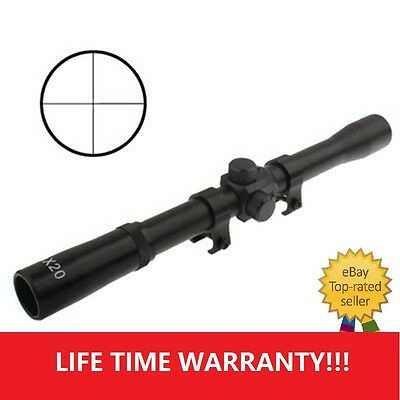 4X 20mm Telescopic Rifle Scope Sight Crossbows Airsoft Air Rifles Hunting