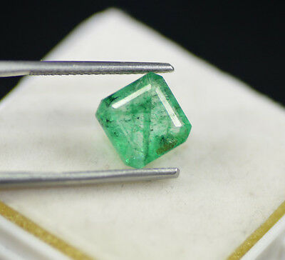 Attractive 3.40 Ct Natural Emerald Shape EGL Certified Green Emerald Gemstone