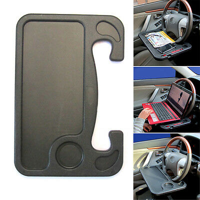 Car Vehicle Auto Stand Laptop Notebook Desk Steering Wheel Seat Multi Tray Table