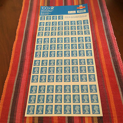 100 x Brand New 2nd Class Stamps, Self Adhesive Sheet