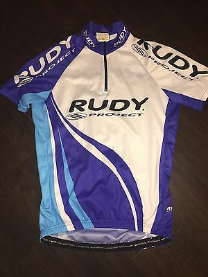 Men's Blue White Rudy Project Cycling Jersey Bike Medium M