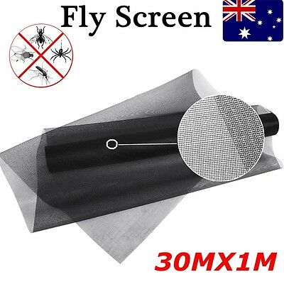 100ft/30m Roll Insect Flywire Window Fly Screen Net Mesh Fibreglass Flyscreen BT