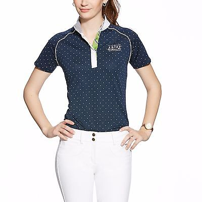 ARIAT - Women's Fashion Aptos Shirt - Navy Dot - ( 10014763 ) - Medium