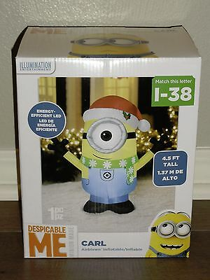 GEMMY Inflatable Christmas Minion DESPICABLE ME Carl Lights Up Illumination