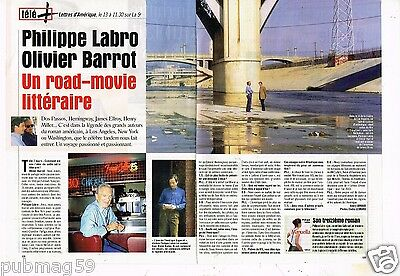 Coupure de Presse Clipping 1999 (2 pages) Philippe Labro et Olivier Barrot