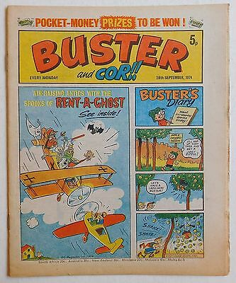 BUSTER and COR Comic - 28th September 1974